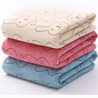 Cute Microfiber Absorbent Drying Bath Towel