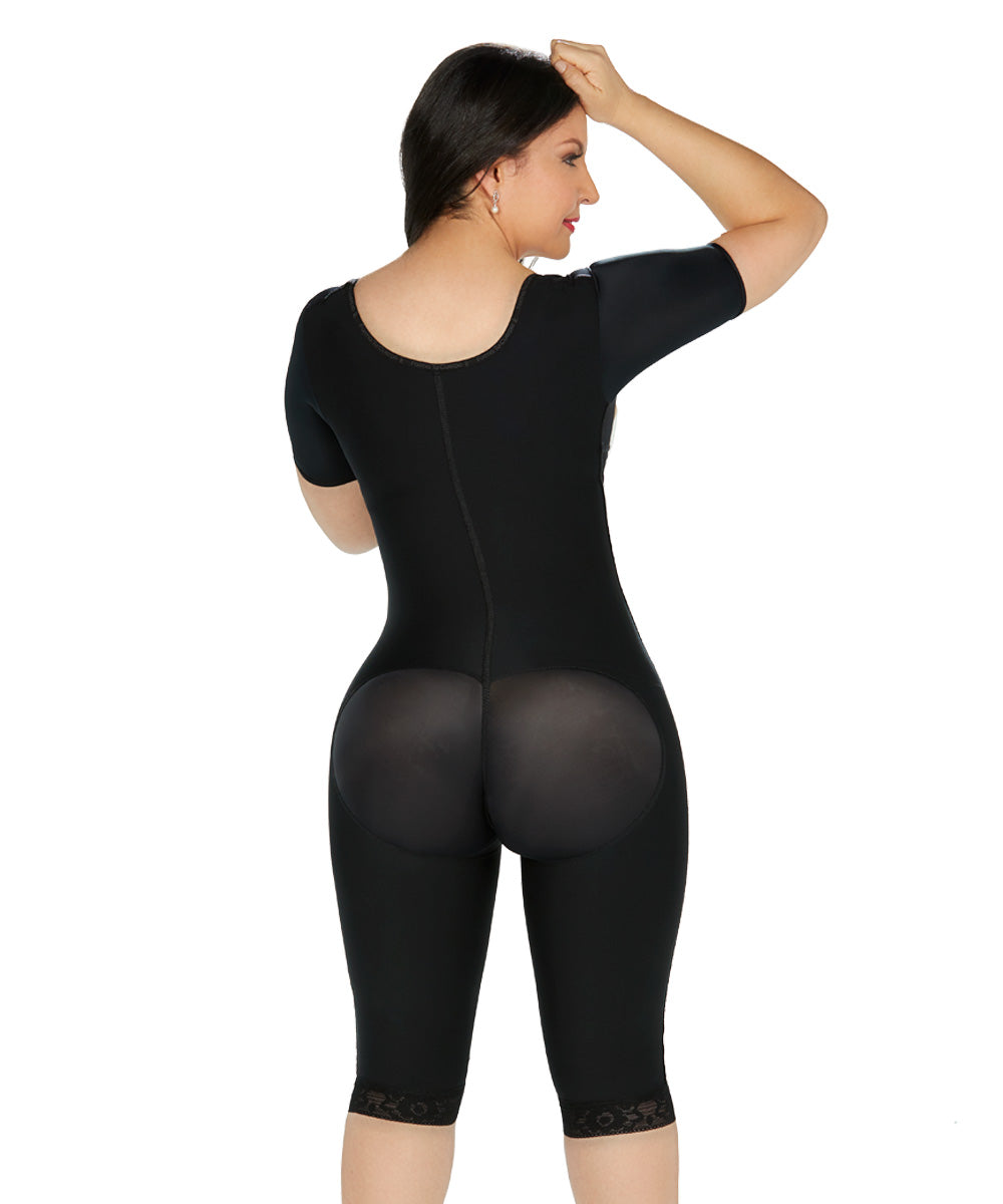 Fajas Colombianas Forma Tu Cuerpo Full­Lenght Body Shaper with Arm Sleeves, Full Back Coverage & Butt Lifter Ref. O-027