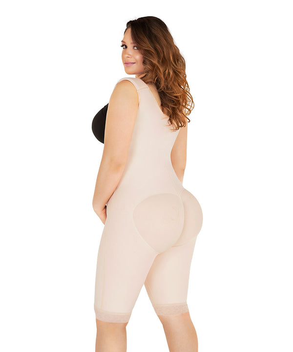 Colombian Girdle Knee Bodysuit, girdle & butt lifter for smooth curves ( Ref. O-022 )