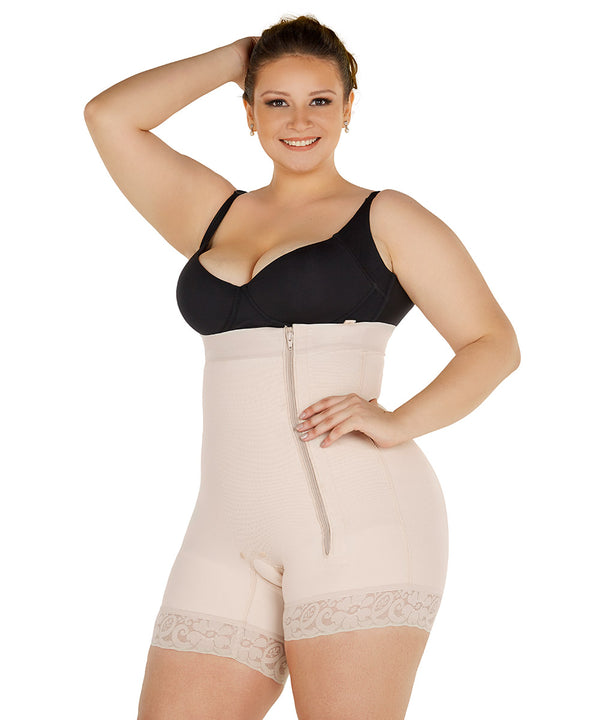 Faja Short Strapless Bodysuit, Girdle & compression garment for smooth curves ( Ref. O-050 )