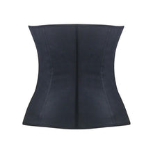 9 Steel Boned Black Latex Waist Trainer
