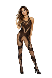 LI200 - Roma Confidential Lingerie Swirly Crotchless Bodystocking