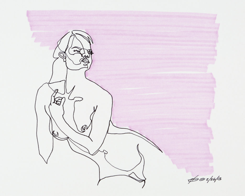"Original Ink Art - ""Purple Confidence"""
