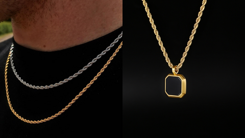 rope chain necklace for men