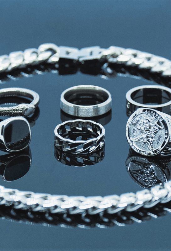 Silver rings & Chains Mens | Twistedpendant