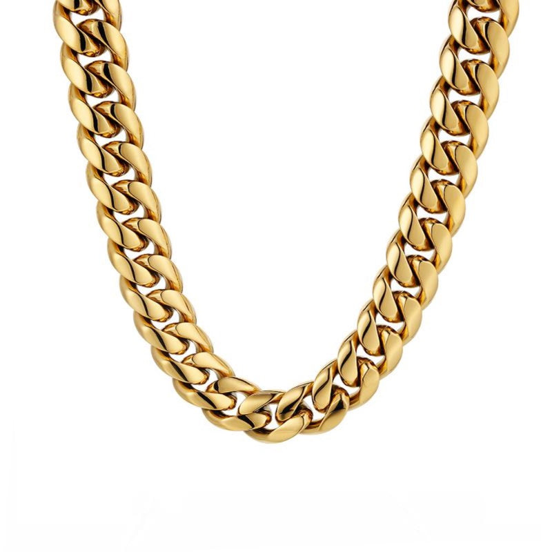 18K Gold Chunky Cuban Chain (12MM) Twistedpendant