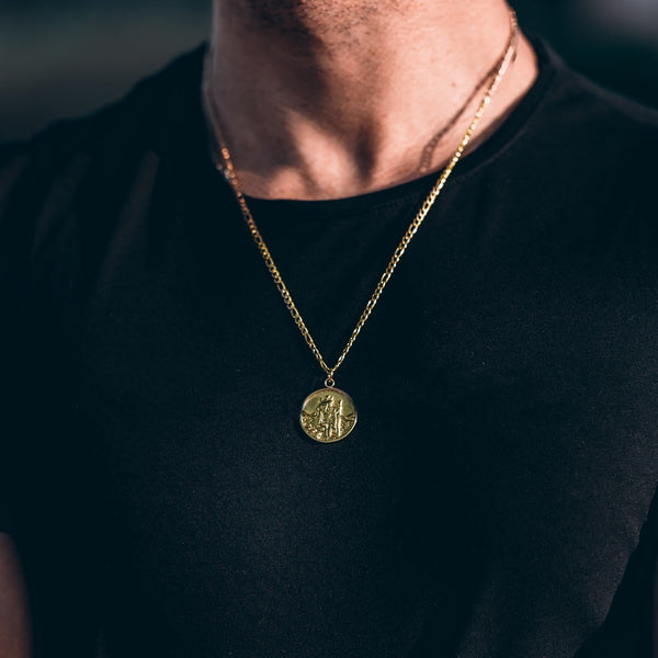 Gold Saint Christopher Pendant - Twistedpendant