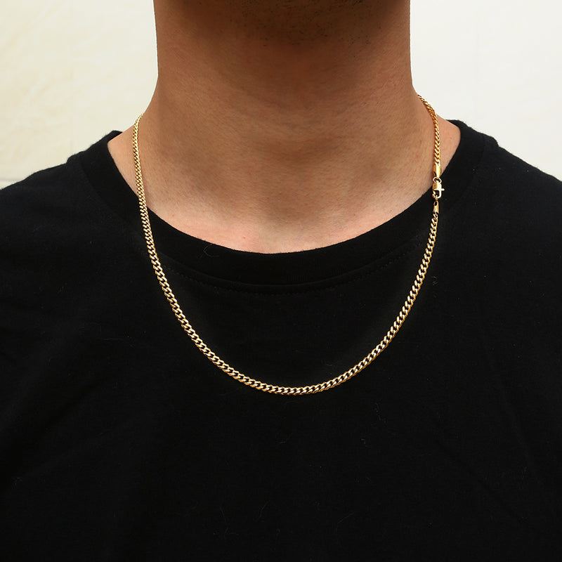 Gold 3mm Cuban Chain
