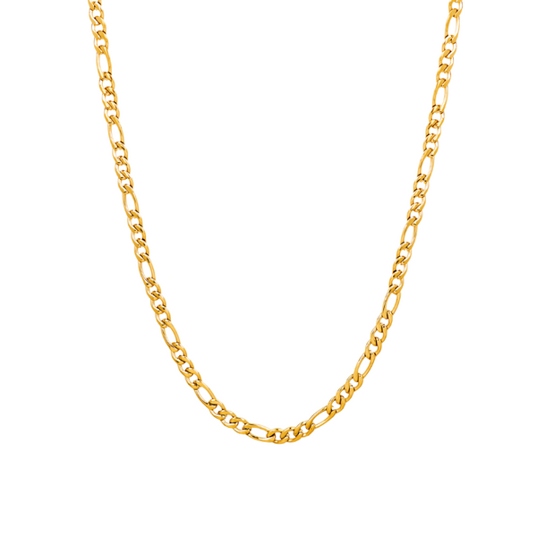 Gold Figaro Chain Necklace - Twistedpendant