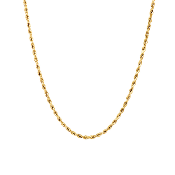 Gold Rope Chain Necklace | Mens Chains | Twistedpendant
