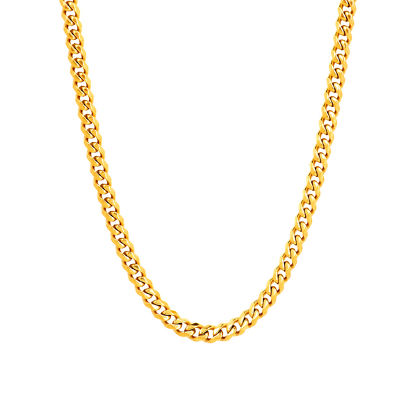 Mens Gold Cuban Chain (5MM) Twistedpendant