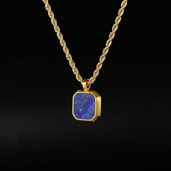 Royal Blue Stone Pendant Necklace - Twistedpendant