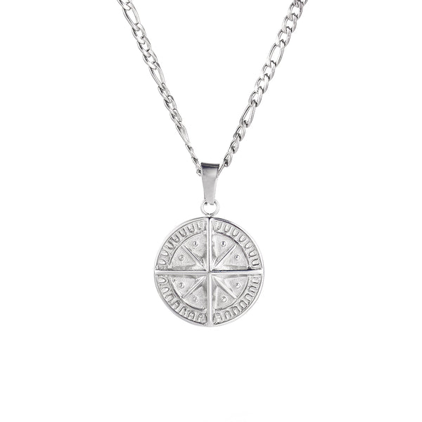 Mens Compass Pendant Silver | Mens Necklaces | Twistedpendant
