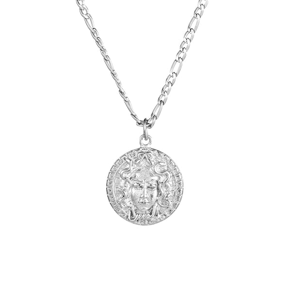 Silver Medusa Pendant Necklace - Twistedpendant