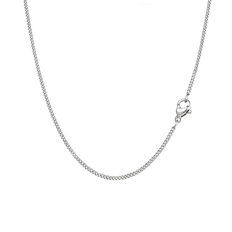 Silver Thin Cuban Curb Chain (1.5MM) | Twistedpendant