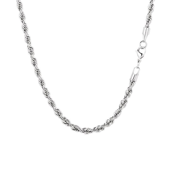 Silver Twisted Rope Chain (5MM) | Twistedpendant