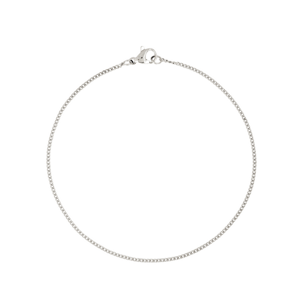 Silver Thin Curb Bracelet (1.5MM) - Twistedpendant