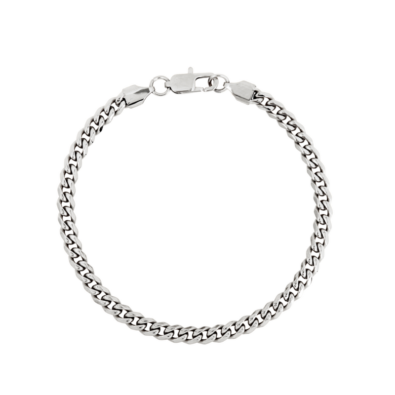 Mens Silver Cuban Curb Bracelet Chain (5MM) | Twistedpendant