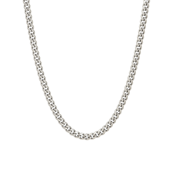 Mens Silver Cuban Chain (5MM) | Necklace Chains | - Twistedpendant