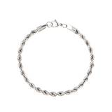 Silver Twisted Rope Bracelet chain (5MM) | Twistedpendant