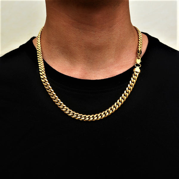Gold Thick Cuban Chain (8MM) | Twistedpendant