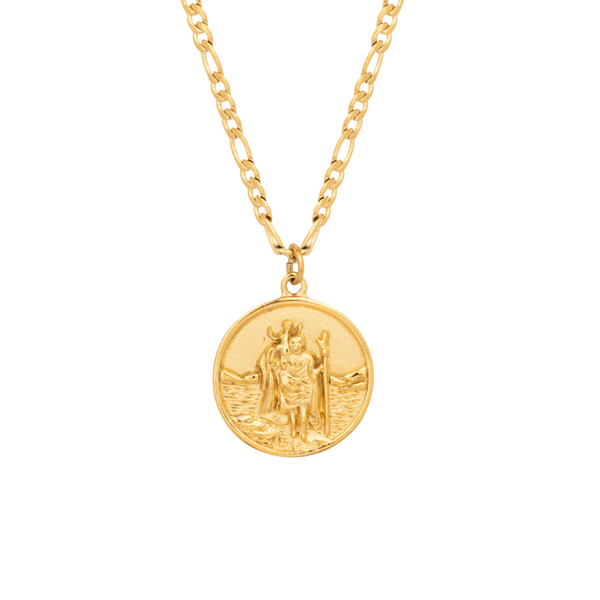 Gold St Christopher Pendant - Twistedpendant