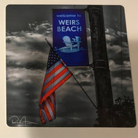 Magnet Aluminum Weirs Beach Flag