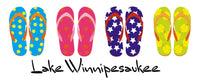 Coffee Mugs- Lake Winnipesaukee 4 Pair Flip Flops