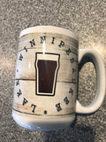 Coffee Mugs 15 oz with blue interior- Wish you were beer