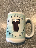 Coffee Mugs 15 oz with blue interior- Wish you were beer 3