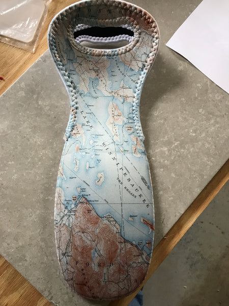 Neoprene Wine tote - Map of Winnipesaukee