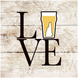 Sandstone Coaster- Love Beer Set of 4