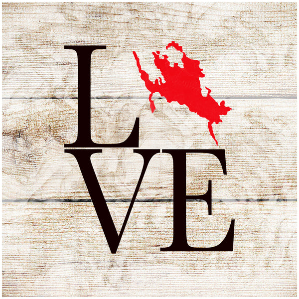 Sandstone Coaster- Love Winni Map Red