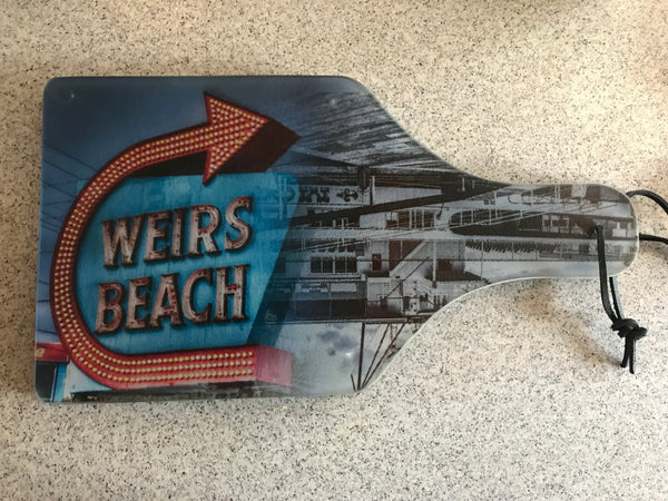 Glass Cutting Board - Weirs Beach Sign/Mount Washington
