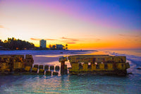 Aluminum Photo panel- Sunrise at the old pier Siesta Key Florida