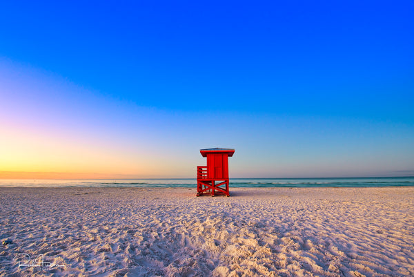 Aluminum Photo panel- Red shack on Siesta Key