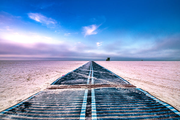 Aluminum Photo panel- Walkway to gulf of Mexico on Siesta Key