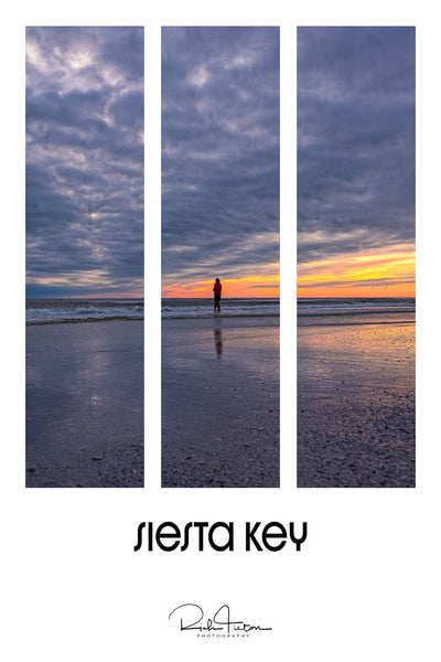 Aluminum Photo panel- Love at sunset- Siesta Key