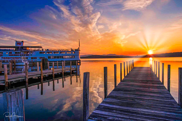 Aluminum Photo panel- Weirs Beach Sunrise