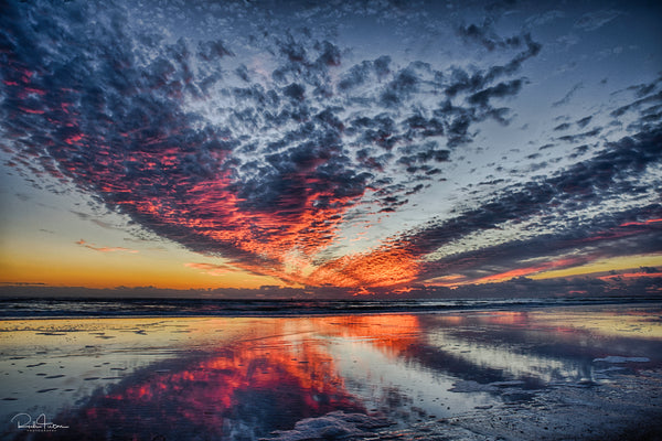 Aluminum Photo panel- Sunset at Siesta Key Beach