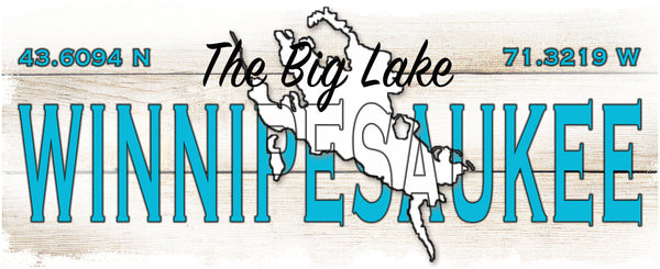 Coffee Mugs 15 oz with blue interior- Winnipesaukee The Big Lake 2