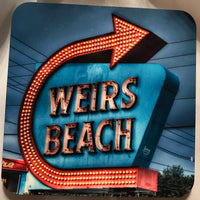 Hardboard Coaster- Weirs Beach Sign