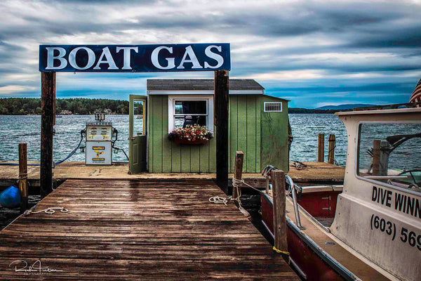 Aluminum Photo panel- Wofeboro Gas Dock (without Dog)