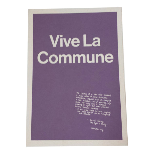Vive La Commune Screen Print