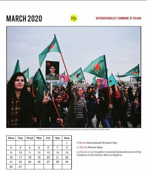 Interationalist Community of Rojava Calendar 2020