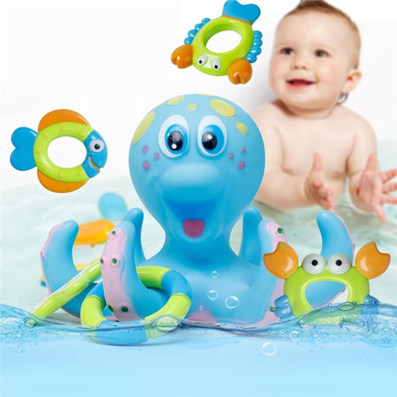 Multicolor Octopus Baby Bath Toy - Allyoudreams.com