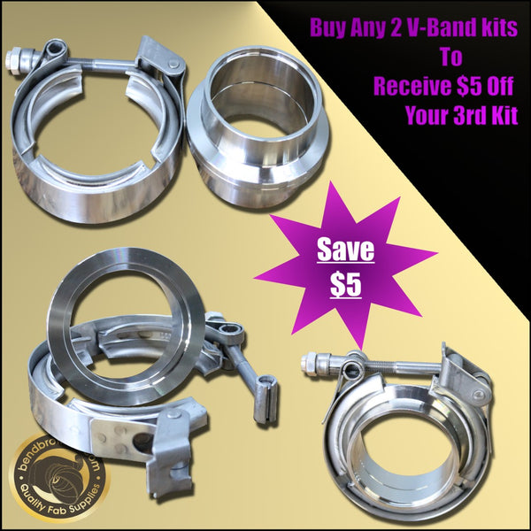 Black Friday - Cyber Monday buy 2 v-band kits get $5 off your 3rd kit