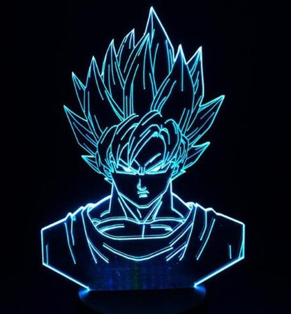 Lampe 3D - Personnages Dragon Ball