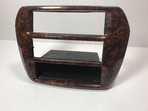 99-03 MITSUBISHI GALANT CENTER DASH RADIO CLIMATE CONTROL BEZEL TRIM WOOD