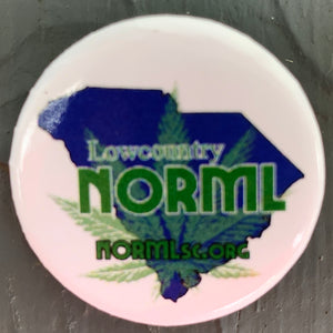 Pin-Back Button - Lowcountry NORML